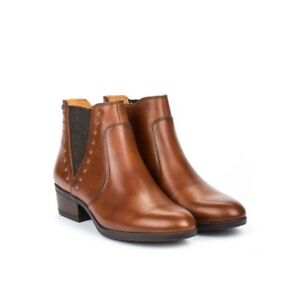 Pikolinos-DAROCA-Ladies-Winter-Cosy-Leather-Stylish-Winter-Ankle-Boots-Cuero-Tan