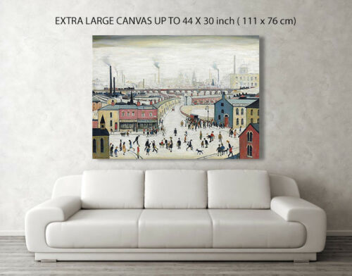 A1 A2 A3 LS Lowry Stockport Viaduct Repro Canvas Box Art// Photo Print  A4