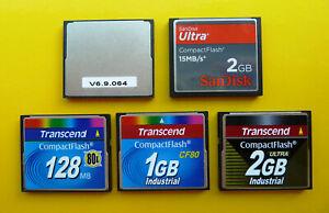 SanDisk   Transcend 64MB   128MB   1GB   2GB Ultra Industrial Compact Flash (CF)