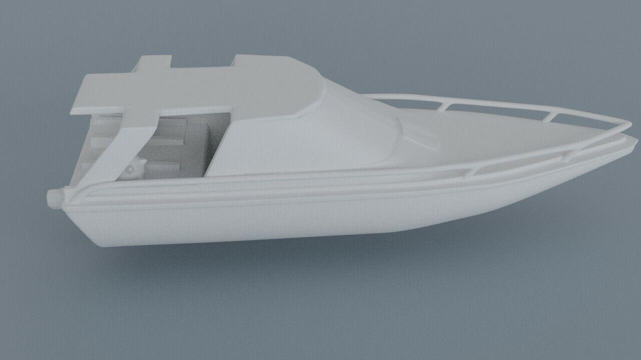JAMES BOND 007 MOONRAKER 3D printed Carlson Glastron Boat Set