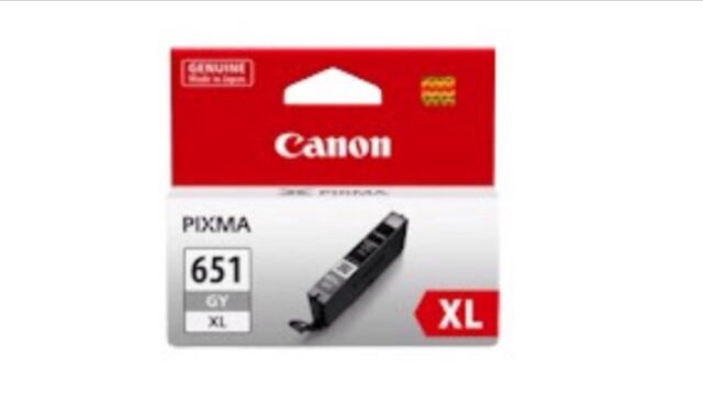 Genuine Canon CLI-651XL CLI651XL grey ink cartridge for iP7160 MG6360 iP8760