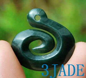 Nephrite jade koru pendant greenstone pounamu necklace new zealand image is loading nephrite jade koru pendant greenstone pounamu necklace new mozeypictures Choice Image