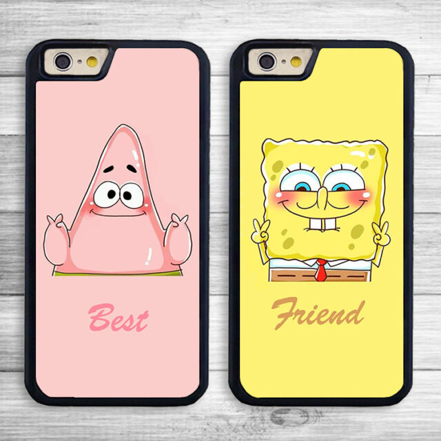 EC BFF Best Friend SpongeBob Partrick Mobile Phone Case Cover for iPhone Models