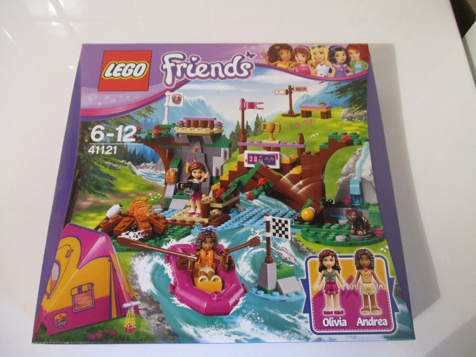 LEGO Friends 41121 Rafting à la Base D'Aventure D'Aventure D'Aventure boîte neuve et scellée rare 9f5d6d