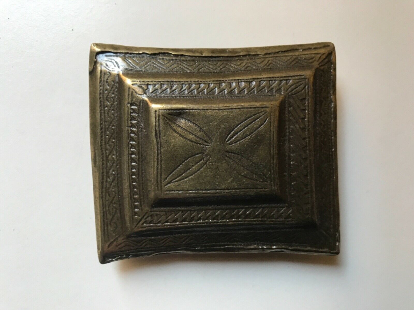 Tribal,Viking,Medieval,Anglo Saxon belt buckle.Antique brass.Made in Italy.