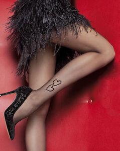 strumpfhose herzen muster sexy tattoo 20den gr s m l alle. Black Bedroom Furniture Sets. Home Design Ideas