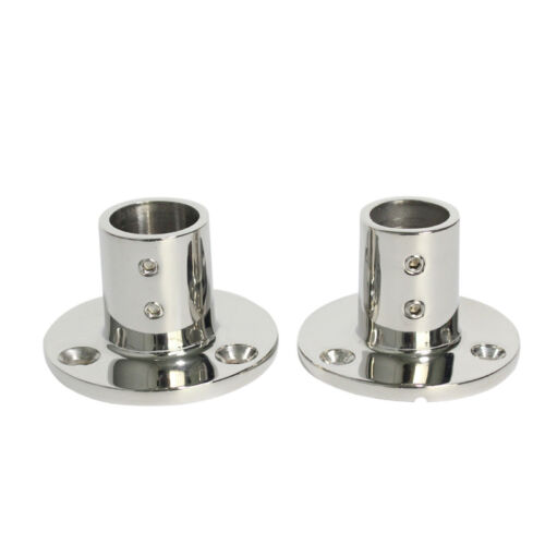 2pcs Boat Hand Rail Fitting 7//8/'/' Pipe 90 Degree Round Base 316 Stainless Steel