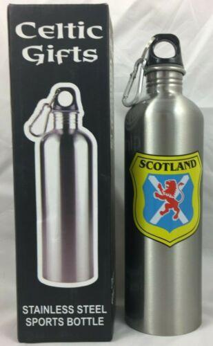 Celtic Cadeaux Acier Inoxydable Sports Bouteille avec le Scottish Lion Rampant
