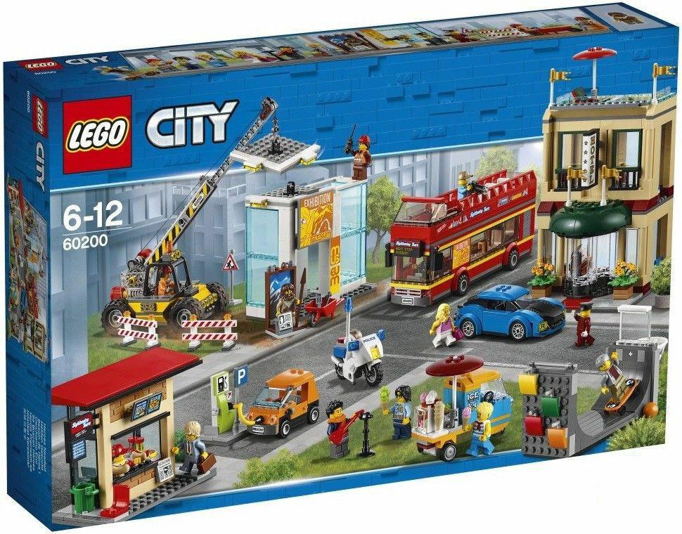 Nuevo LEGO 60200 ciudad capital ciudad Sellado legos Set Doble Decker Autobús Museo Hotel