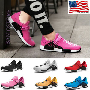 Womens-Sneakers-Mesh-Canvas-Casual-Shoes-Running-Breathable-Sport-White-Pink-S13