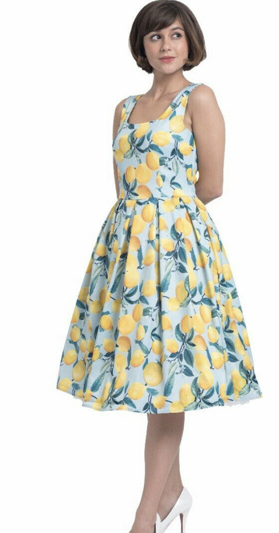 Dolly and Dotty Vintage Inspired Lemon Print Dres… - image 1