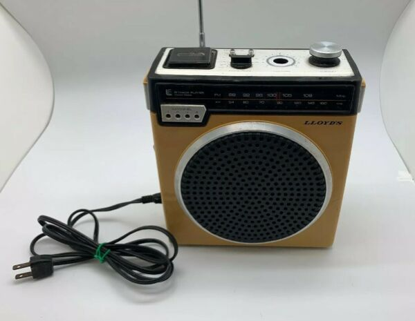 1970's Lloyd's Portable Am/fm 8-track Player Radio V150 8-track Doesn't Work