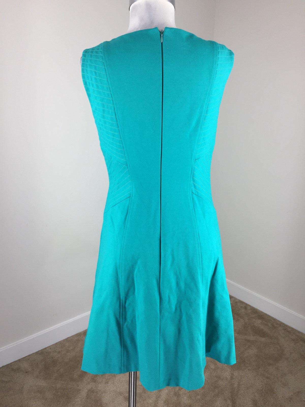 3b4427b5619 ... Antonio Melani S 4 Turquoise Dress Ponte knit sleeveless sleeveless  sleeveless Excellent a5c83a ...