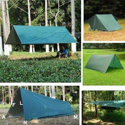 Waterproof Camping Tent Tarp Outdoor Awning Shade Sun Shelter Mats Canopy A0Q6