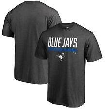 Toronto Blue Jays Fanatics Branded Win Stripe T-Shirt - Ash