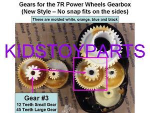 NEW! Fisher Price Power Wheels 7R Gearbox Gears: GEAR #3 (12/45 teeth)