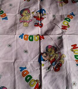 Vintage-Pretty-Pink-Children-039-s-Noddy-Craft-Fabric-Remnant-FQ
