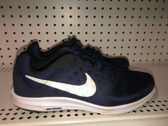Nike Downshifter 7 Mens Athletic Running Training Shoes Size 7 Blue Black