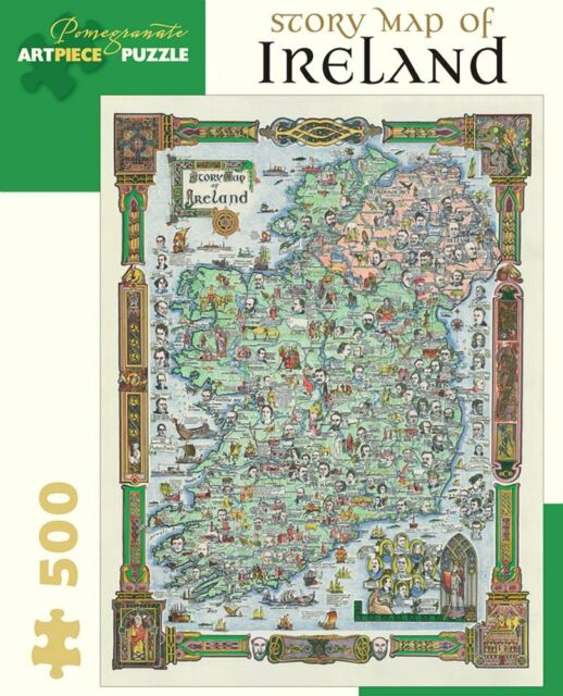 Histoire Carte d'Irlande 500 Piece Jigsaw Puzzle