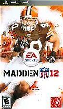 Madden NFL 12 Football (Sony PSP, 2011) Brand New Factory Y-Fold Sealed