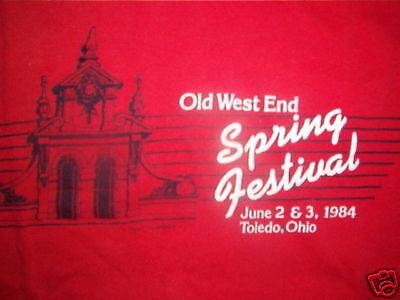 Alt West End Fest T-shirt Toledo Ohio 80's 1984 Sm Vertrieb Von QualitäTssicherung
