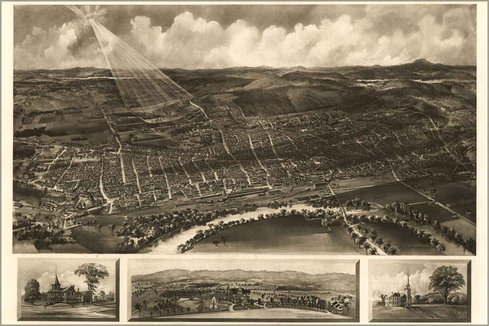 Poster, Many Größes; Map Of Concord New Hampshire 1899