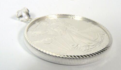 Diamond Cut .925 STERLING SILVER BEZEL for 1 oz SILVER EAGLE 40.6 mm NO RETURNS