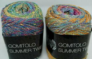 Lana Grossa Fb Wolle Kreativ Gomitolo Aloha 303 ocker//brombeer//umbra 100 g