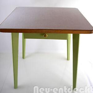 Shabby Chic Vintage Esstisch Schublade Tisch Küchentisch 50er ...