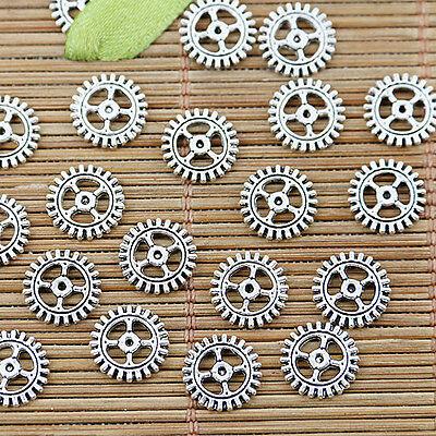 64pcs Tibetan silver round gear design DIY connector bracelet making EF1308