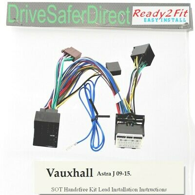 8404-800 Cable 2Fit Listo Para Radio Iso//Vauxhall Opel Astra H 04-09 4-Head