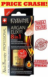 PROFESSIONAL LIQUID SILK ARGAN HAIR OIL 8 IN 1 KERATIN Elixir of Gold  EVELINE