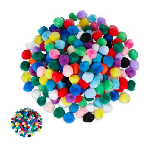 400x pompons multicolores en kit Petits Pompons Pour Bricolage Deco Pom Pom Balles pompons