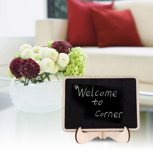 1pc Mini Blackboard Chalkboard With Stand Place Card Wordpad Rectangle AngleNIC