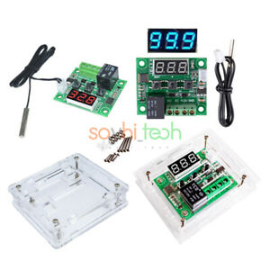 Details about W1209 12V LED Digital Thermostat Temperature Control Switch  Sensor Module + Case