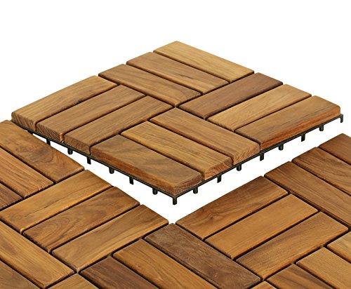 Bare Decor Ez Floor In Solid Teak Wood