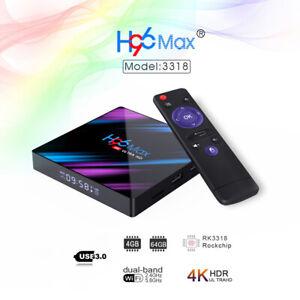 Smart TV Box H96 Android 9.0 64 Bit 4 Core TV Box 4K HD WIFI TV Media Player USA