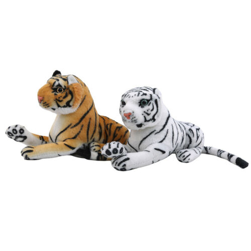 Animal Pillow Cushion Simulation White Tiger Plush Toy Cute Stuffed Baby Doll L