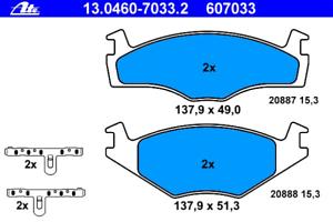 Bremsbelagsatz Scheibenbremse ATE 13.0460-7033.2