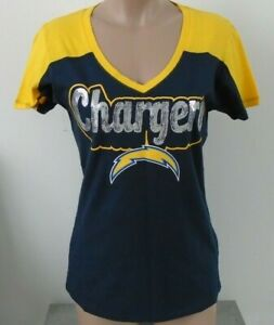 b1ba76c1 Details about LOS ANGELES CHARGERS NFL Team Apparel by NEW ERA Womens  Sequin T-Shirt M