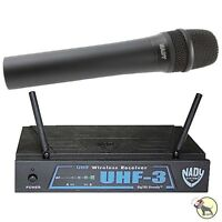 Nady Uhf-3 Ht Low Band Pro Wireless Handheld Microphone System Uh3 Mu5/484.55