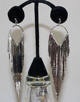 Circular Sector Tassel Ear Ringssilver Tassel Dangel Pierced Ear Party Fancy