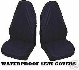 WATER RESISTANT CAR SEAT COVERS FRONT COVER BLACK  x 2