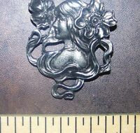 Polymer Clay Push Mold Nouveau Lady Maiden Flowers Make Jewelry Scrapbooking