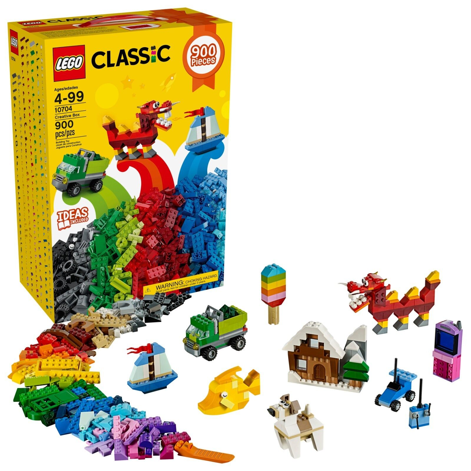 Lego Classic Creative Box 10704 - 900 Pieces - 39 colors