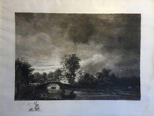 Etching-19-Century-Dutch-Landscape-Unsigned-Unsigned