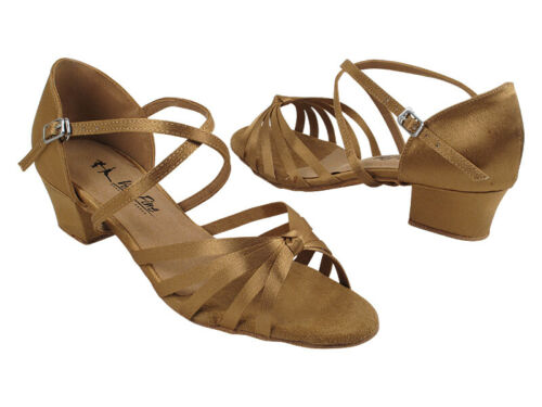 Women/'s West Coast Swing Salsa Ballroom Dance Shoes low Heel 1.5 Very Fine 6005C