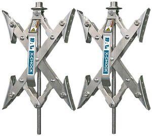 2 X-Chock Tire Locking Wheel Stabilizer Set Bal RV Camper Travel Trailer Cargo