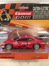 Carrera GO 64042 Audi A5 DTM M. Molina #20 1/43 Scale Slot Car