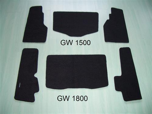 3 Stück Kofferteppiche Teppiche Teppich für Koffer Honda Goldwing GL 1800